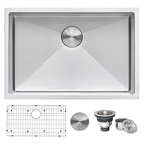 Ruvati 28-inch Undermount 16 Gauge Tight Radius Stainless Steel Kitchen