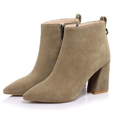 botas negro de combate invierno caqui RTRY UK4 otoño polar US6 botines for botas mujer CN36 EU36 moda Botines de Zapatos botas casual TPawq5z