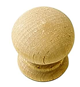 "One Piece (P684-UW) Cabinet knob. Belwith Keeler Natural Woodcraft Collection 1 1/4"" Cabinet Knob Unfinished Wood"