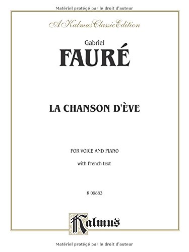 La Chanson DEve French Language Edition (Kalmus Edition)  (Tapa Blanda)