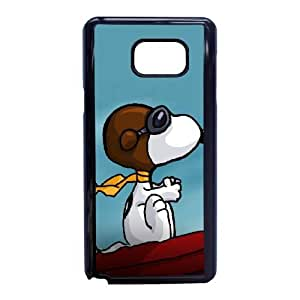 Samsung Galaxy Note 5 Phone Case Black Charlie Brown and Snoopy VMN8188901