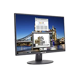 Sceptre E205W-16003R 20″ 75Hz Ultra Thin Frameless LED Monitor 2x HDMI VGA Build-in Speakers, Metallic Black 2018