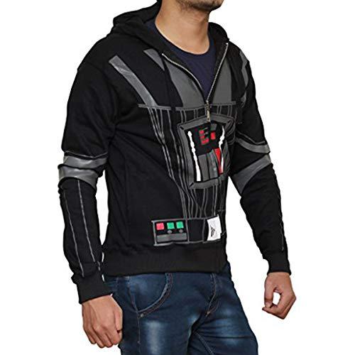 Miracle(Tm) Star Wars Hoodie - Darth Vader Hoodie Costume Zip Up Hoodie (XS, Darth Vader (Black))]()