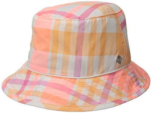 Columbia Women's Bahama Bucket Hat, Peach Shadow Check, Small/Medium