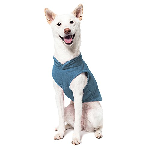 Image of Gooby - Fleece Vest, Small Dog Pullover Fleece Jacket with Leash Ring, Blue, X-Small