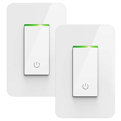 Smart Light Switch, TONBUX Alexa Light Switch Compatible with Amazon Alexa  Google Assistant IFTTT, Voice/Touch/APP Control Wi-Fi Light Switch FCC/ETL