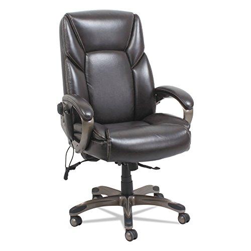Alera ALESH7059 Shiatsu Massage Chair, Chocolate Marble, Bronze Base Zuma Chocolate