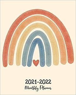 rainbow 2021 planner printable calendar print rainbow boho CALENDAR,2021 boho planner Monthly,12 month calendar printable mothers day