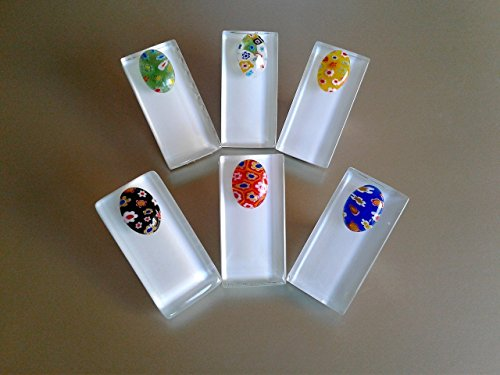 12 MO Rect Clip On Shower Curtain Liner Weights~Tablecloth, Curtain, Multiple Use Clips~Glass Tile Stainless Steel Clip