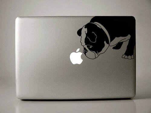 Curtis the English Bulldog - Black Decal Macbook Laptop