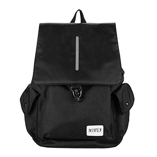 Charging Women Backpack USB Men Laptop Bag Anti Swiftswan Theft Canvas Black Backpack School OwTUZWxt