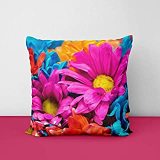 41U7rj8M5oL. SS320 Colorful Flowers Square Design Printed Cushion Cover