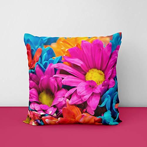 41U7rj8M5oL Colorful Flowers Square Design Printed Cushion Cover