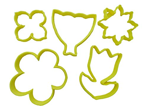 - Spring Flower Assortment with Bouquet Cookie Cutters (5 Pack)