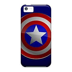 ConnieJCole Fashion Protective Captain America Logo Case Cover For Iphone 5c