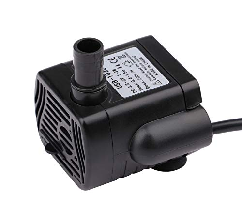 Driew 3W DC 3.5-9V USB Water Pump with Power Cord, Solar Mini Submersible,Brushless,Waterproof (USB Water Pump)