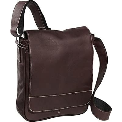 David King & Co. Deluxe Medium Flap-Over Messenger, Café, One Size
