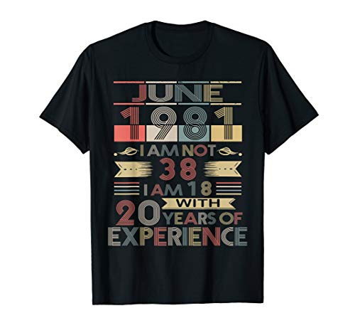 Born in June,1981 Vintage Birthday Gifts T-Shirt