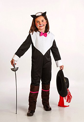 Disfraz DE Gata MOSQUETERA Infantil 6-7 AÑOS: Amazon.es: Juguetes ...