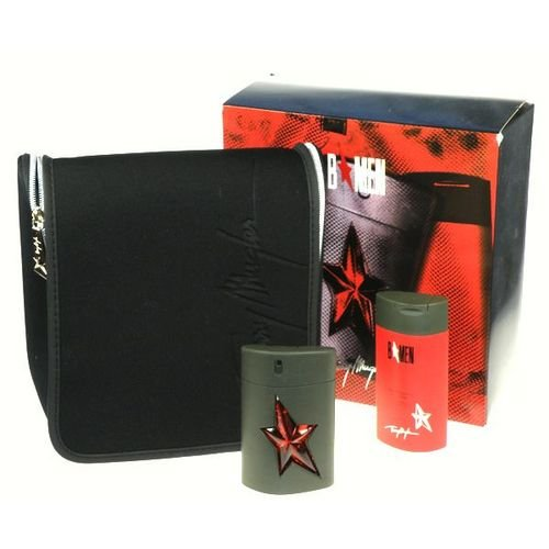 Angel B*Men by Thierry Mugler for Men 3 Piece Set Includes: 1.7 oz Eau de Toilette Spray + 3.5 oz Hair and Body Shampoo + Deluxe Weekender Toilettry Bag