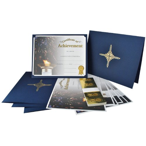 Certificate of Achievement Bundle (Set of 100 with Seal and Folder)