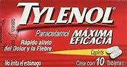 Tylenol Tabletas Caplets, 500 mg, 10 Piezas