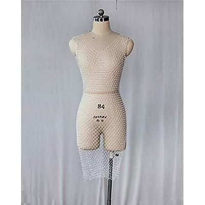 Adogirl Womens Sexy Rhinestone Sheer Dress - See Through Mesh Bikini Swimsuits Cover Up Beach Mini Dress at Amazon Women's Clothing store