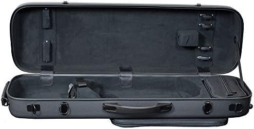 Hidersine policarbonato rectangular funda para violín – Fibra de Carbono Efecto: Amazon.es: Instrumentos musicales