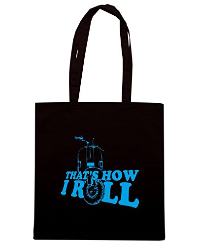 T-Shirtshock - Bolsa para la compra OLDENG00684 thats how i roll organic Negro