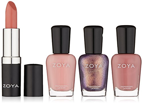 Zoya Lips & Tips Quad Nail Polish, Sleigh Away