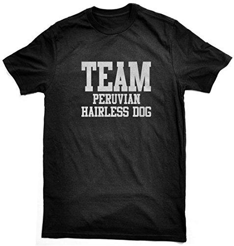 Bertie Team Peruvian Hairless Dog t-Shirt by, Black, Free Worldwide Shipping (Unisex 3xl/55 inch Chest) (Peruvian Hairless Dog)