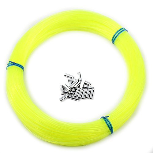 Momoi Outrigger Line Kit | 100 Yards | Includes Crimp Sleeves (Hi-Vis Yellow) ()