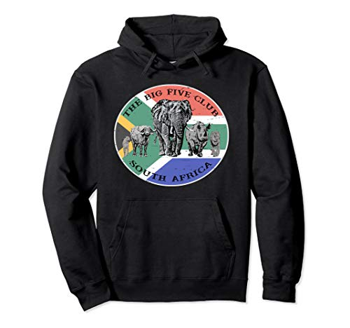 South Africa Hoodie, Africa's Big 5 on South Africa Flag (Was South Africa Ever A British Colony)