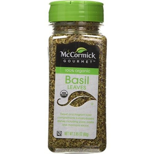 McCormick Gourmet 100% Organic Basil Leaves, 2.85 oz (Pack of 4 )