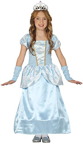 Girls Blue Princess Fairy Tale Film Halloween Fancy Dress Costume Outfit 3-9 years (3-4 years)]()