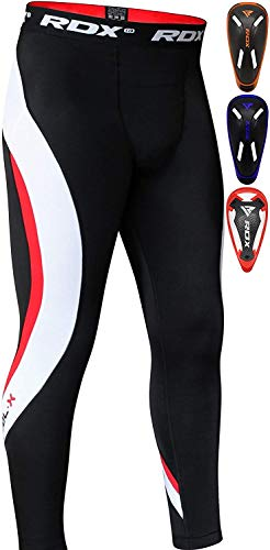 RDX MMA Thermal Compression Pants Groin Cup Trouser Training Guard Base Layer Fitness Running Exercise (Best Base For Mma)