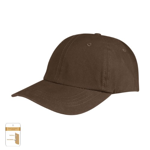 Juniper Low Profile (Unconstructed) Waxed Cotton Canvas Cap, One Size, Brown