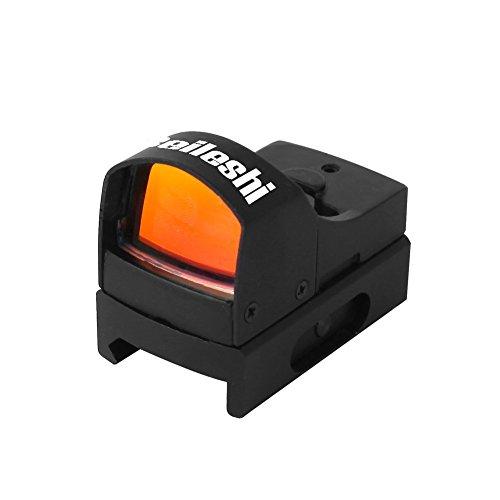 Beileshi Mini Max Reflex Red Dot Sight Dual Brightness Holographic 20mm Weaver Rail Mount