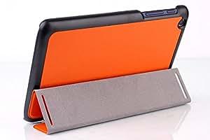 Luxury PU leather Folio case stand cover for Lenovo IdeaTab A8-50 A5500 A5500-h / A5500-f film stylusOrange