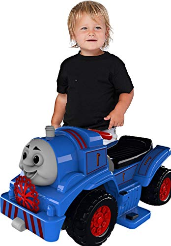 Sky Toys Electric Children Train Engine Ride-On Car with Charger, Battery, Thomas Sound