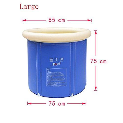 TOYM US Folding Bath Tub Adult Bath Bucket Inflatable Bathtub Plastic Bath Tub ( Size : Large ) by Folding Bathtub