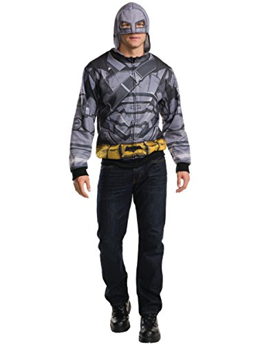 Rubies Costume Men's Batman v Superman: Dawn of Justice Batman Armor Costume Hoodie, Multi, One Size ()
