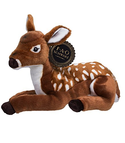 FAO Schwarz Fawn Plush Toy - 18 Inch Cute & Fluffy Baby Animal Snuggle Pal For Children & Toddlers - Super Soft, Safe & Hypoallergenic - Lovely Gift Idea For Little Boys & Girls