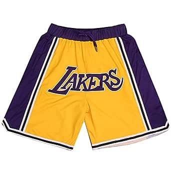 L.A. Lakers Shorts - Pantalones Cortos de Baloncesto para ...