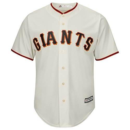 Majestic Big Kid's/Juniors San Francisco Giants Ivory Off-White Cool Base Jersey (Giant Baseball Jersey)