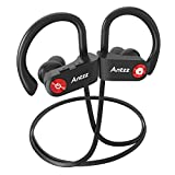Black Wireless Bluetooth Noise-Cancelling Waterproof Sports Headset with Microphone Earbuds by Antzz