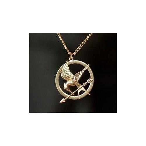 165 opinioni per The Hunger Games Mocking Jay Collana in bronzo antico Incisioni dettagliate su