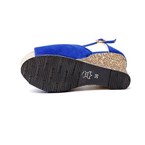 Blue 35 AdeeSu EU Donna Plateau Blu qRItR
