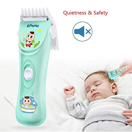 ENSSU Quiet Safety Baby Hair Clippers Hair Trimmers Chargeable Professional Cordless Hair Clipper for Baby Children Kids