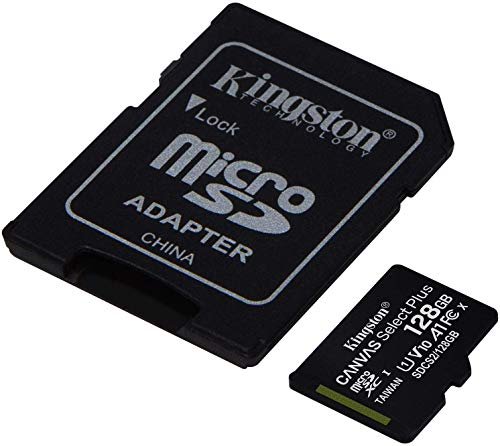 Kingston 128GB Yuneec Typhoon H Pro MicroSDXC Canvas Select Plus Card Verified by SanFlash. (100MBs Works with Kingston)